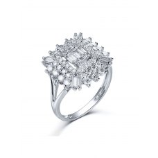 Karsley Diamond Ring 18K White Gold