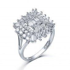 Karsley Diamond Ring 18K White Gold