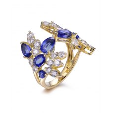 Proteger Kynite Diamond Ring 18K Yellow Gold