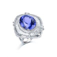 Leggero Tanzanite Diamond Ring 18K White Gold