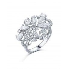 Splendore Pear Diamond Ring 18K White Gold