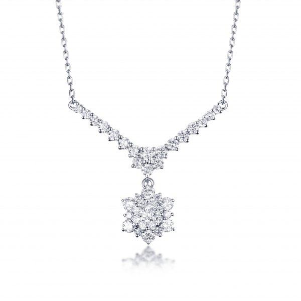 Lovelace Diamond Necklace 18K White Gold