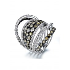 Cranmer DIamond Ring 18K White and Black Gold
