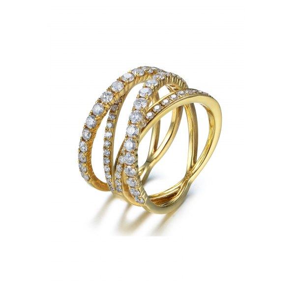 Hesla Diamond Ring 18K White and Yellow Gold