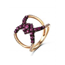 Regane Ruby Diamond Ring 18K Rose and Black Gold