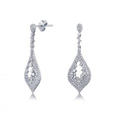 Flittern Diamond Earring 18K White Gold