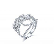Rosamie Diamond Ring 18K White Gold