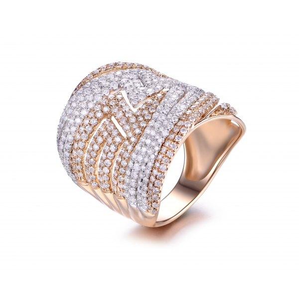 Roselie Diamond Ring 18K White Gold