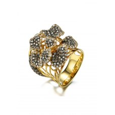 Conrie Diamond Ring 18K Yellow and Black Gold