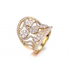 Bogaty Diamond Ring 18K Yellow Gold