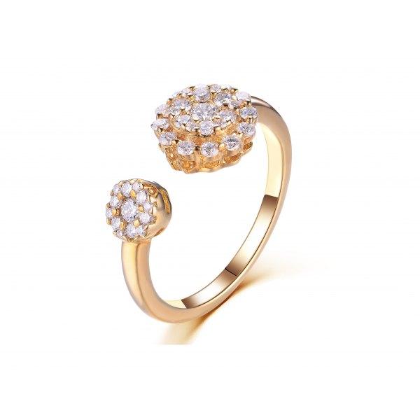 Laylie Diamond Ring 18K Yellow Gold