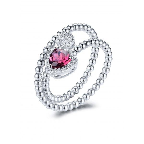 Ryslia Gem Diamond Ring 18K White Gold