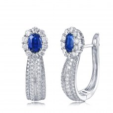 Lythias Gem Diamond Earring 18K White Gold