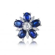 Kizlie Sapphire Diamond Earring 18 White Gold