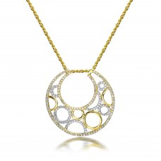 Lauryn Diamond Pendant 18K White and Yellow Gold
