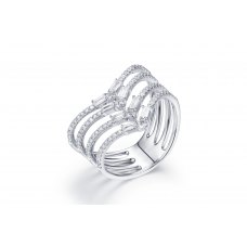 Bianka Diamond Ring 18K White Gold
