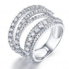 Rowe Diamond Ring 18K White Gold