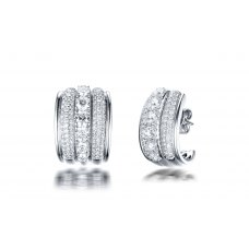 Tashan Diamond Earring 18K White Gold