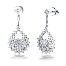 Isria Diamond Earring 18K White Gold