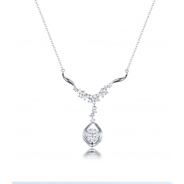Ferella Diamond Necklace 18K White Gold