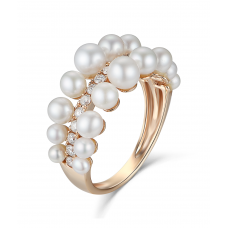 Maris Pearl Diamond Ring 18K Rose Gold