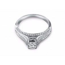 Princess Diamond Engagement Ring Casing 18K White Gold