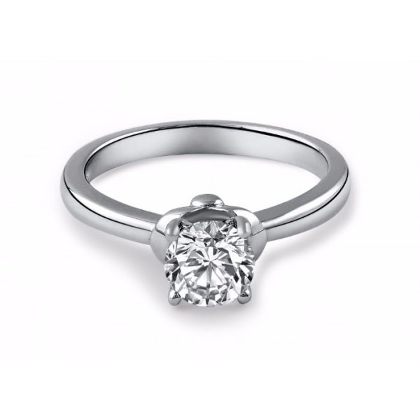 Telfour Solitaire Engagement Ring Casing 18K White Gold