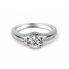 Chevy Diamond Engagement Ring Casing 18K White Gold