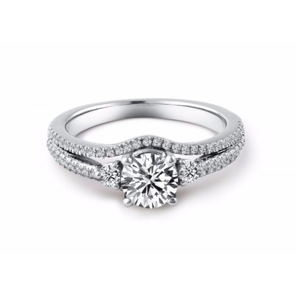 Chevy Diamond Engagement Ring Casing 18K White Gold