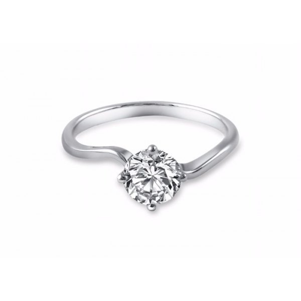 Videl Solitaire Engagement Ring Casing 18K White Gold