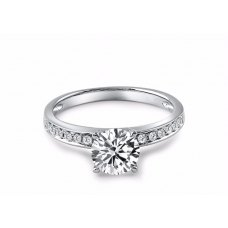 Somer Diamond Engagement Ring Casing 18K White Gold