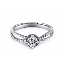 Coty Diamond Engagement Ring Casing 18K White Gold