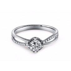 Coty Diamond Engagement Ring Casing 18K White Gold
