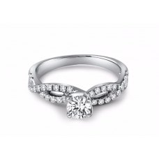 Coyne Diamond Engagement Ring Casing 18K White Gold