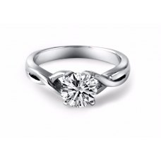 Zurie Solitaire Engagement Ring Casing 18K White Gold