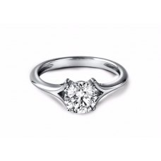Varden Solitaire Engagement Ring Casing 18K White Gold