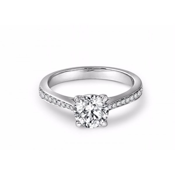 Saville Diamond Engagement Ring Casing 18K White Gold