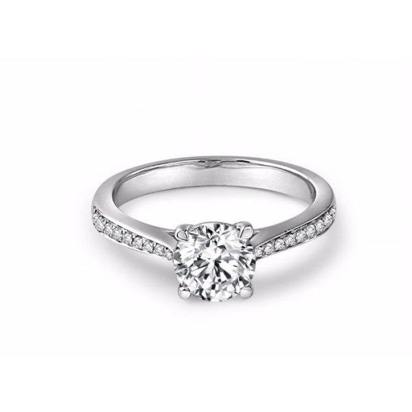 Saville Diamond Engagement Ring Casing 18K White Gold