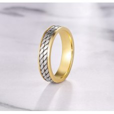 Pones Wedding Ring 18K White and Yellow Gold