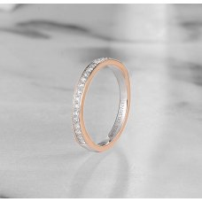 Cefie Diamond Wedding Ring 18K White and Rose Gold(Pair)