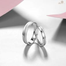 Provis Diamond Wedding Ring 18K White Gold (Pair)