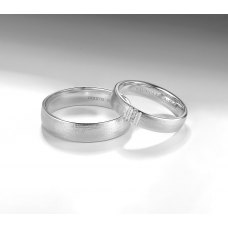 Fanon Diamond Wedding Ring 18K White Gold(Pair)