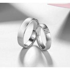Fanon Diamond Wedding Ring 18K White Gold(Pair)