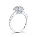 Lems Diamond Engagement Ring Casing 18K White Gold