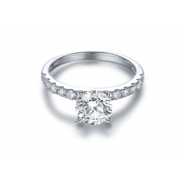 Krinel Diamond Engagement Ring Casing 18K White Gold (2 in 1)