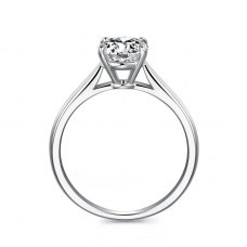 Felix Solitaire Engagement Ring Casing 18K White Gold
