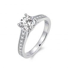 Laxie Diamond Engagement Ring Casing 18K White Gold