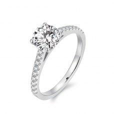 Lexie Diamond Engagement Ring Casing 18K White Gold