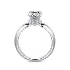 Sylvi Diamond Engagement Ring Casing 18K White Gold