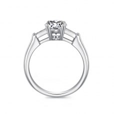 Lyria Diamond Engagement Ring Casing 18K White Gold